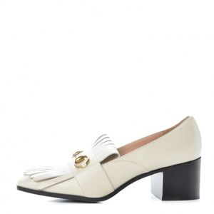Gucci Loafer Pumps sz 36 Mystic White